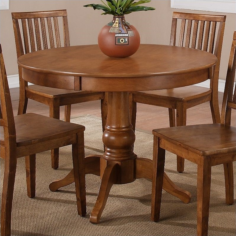 Steve Silver Company Candice Round Dining Table in Oak