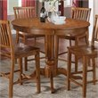 Candice Round Counter Height Dining Table in Oak