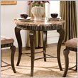 Hamlyn 5  Piece Round Counter Height Dining Table Set in Brown