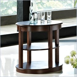 Steve Silver Company Crestview Oval End Table in Espresso Finish