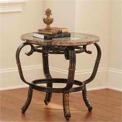 Steve Silver Gallinari Brown Marble Veneer End Table