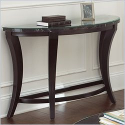 Steve Silver Company Cayman Glass and Marble Console Table in Brown