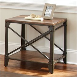 Steve Silver Company Winston Square End Table in Distressed Tobacco