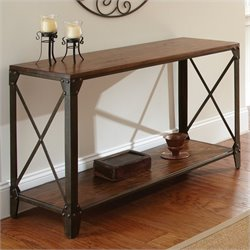 Steve Silver Company Winston Sofa Table in Distressed Tobacco