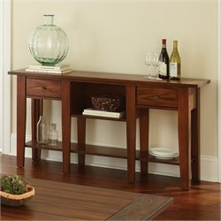 Steve Silver Company Desoto Sofa Table in Dark Oak Finish