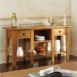 Steve Silver Company Liberty Sofa Table in Oak Finish