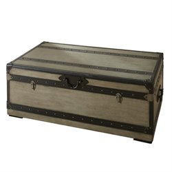 Steve Silver Company Rowan Trunk and Cocktail Table in Weathered Gray Finish