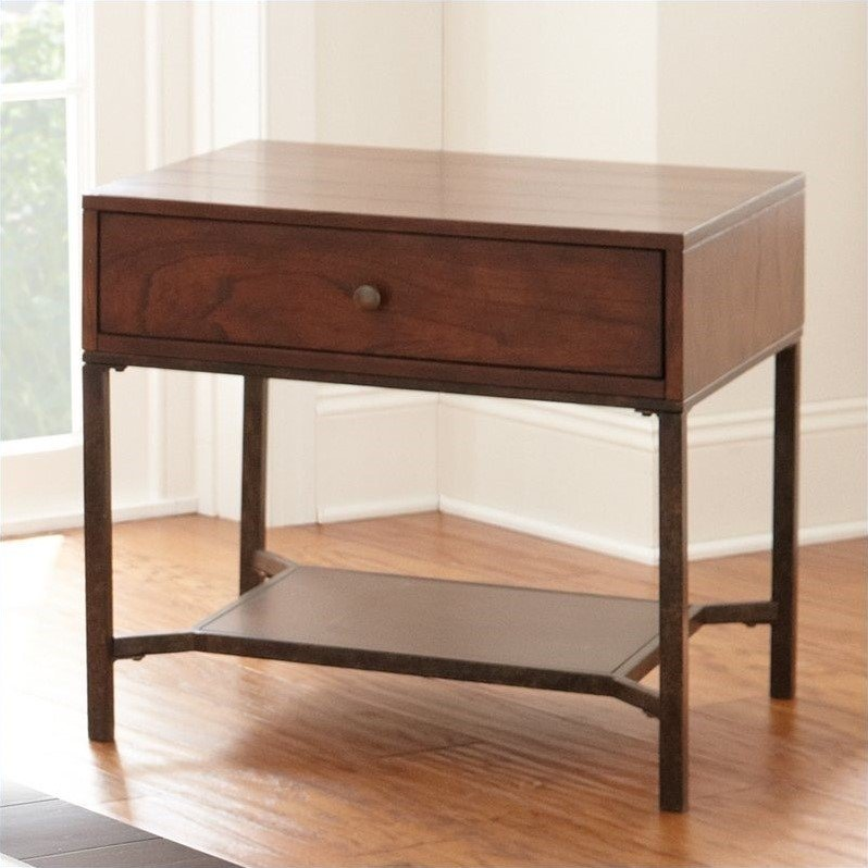 Steve Silver Company Hayden End Table in Light Espresso