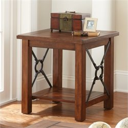 Steve Silver Company Rosewood End Table in Chestnut Finish