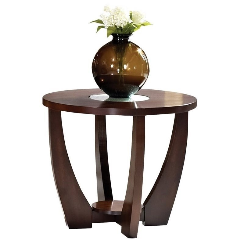 Steve Silver Company Rafael End Table in Cherry