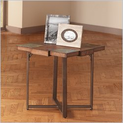 Steve Silver Company Winchester End Table in Elm Veneer Finish