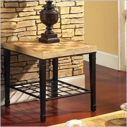 Steve Silver Company Belize End Table in Light Oak Veneers
