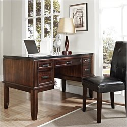 Steve Silver Company Chamberlain Black Granite Top Writing Desk