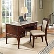 ADD TO YOUR SET: Steve Silver Company Marseille Marble Top Writing Desk