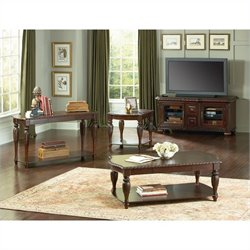 Steve Silver Company Antoinette 3 Piece Coffee Table Set in Cherry