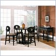 Optima 5 Piece Counter Dining Table Set in Black