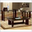 Steve Silver Company Delano 3 Piece Coffee Table Set in Espresso