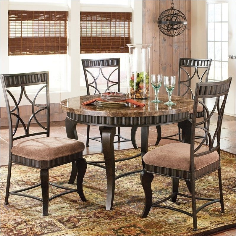 Steve silver company hamlyn 5 piece marble top dining for Dining room sets under 500 00