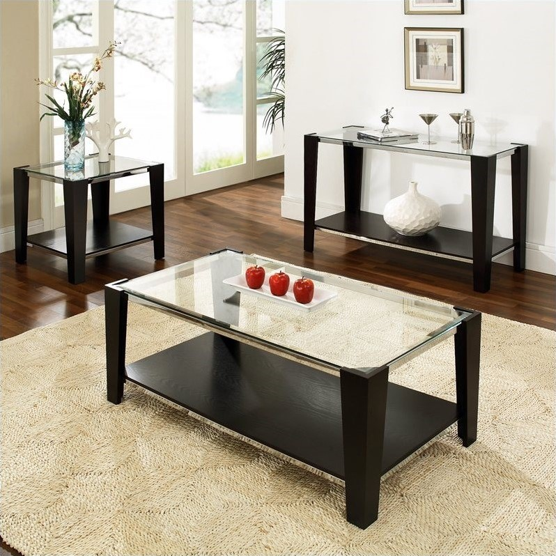 Newman 3 Piece Coffee Table Set in Espresso