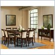 Steve Silver Company Marseille 9 Piece Counter Dining Table Set in Cherry