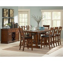 Steve Silver Zappa 9 Piece Counter Height Dining Table Set