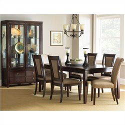 Steve Silver Company Wilson 7 Piece Dining Table Set in Merlot Cherry
