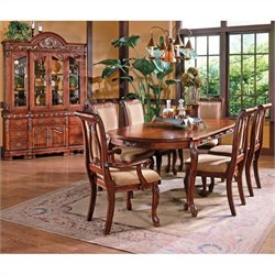 Steve Silver Company Harmony 7 Piece Rectangular Dining Table Set in Rich Cherry