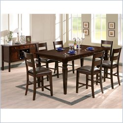 Steve Silver Company Gibson 5 Piece 2 in 1 Dining Table Set in Espresso