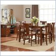 Steve Silver Company Easton 5 Piece Counter Dining Table Set in Cherry