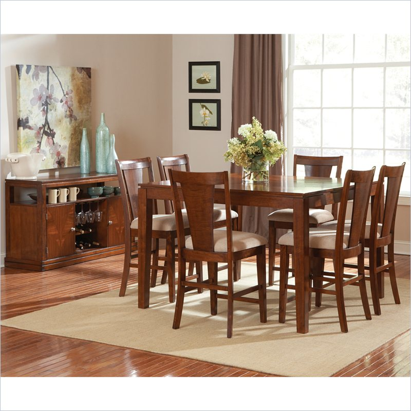 Easton 7 Piece Counter Dining Table Set in Cherry