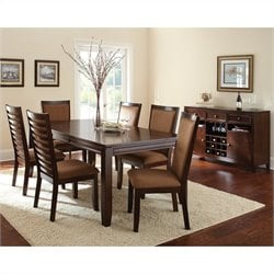 Steve Silver Company Cornell Rectangular Dining Table Set in Espresso