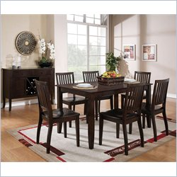 Steve Silver Company Candice 5 Piece Rectangular Dining Table Set in Dark Espresso