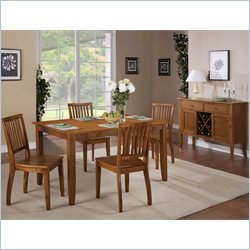 Steve Silver Company Candice 5 Piece Rectangular Dining Table Set in Oak