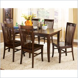 Steve Silver Company Angel 5 Piece Rectangular Dining Table Set in Espresso