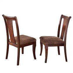Steve Silver Aubrey Dining Chair in Medium Brown Cherry