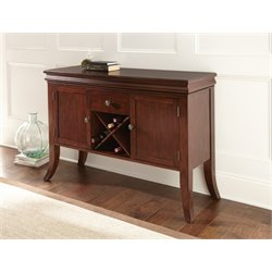 Steve Silver Aubrey Wine Rack Server in Medium Brown Cherry