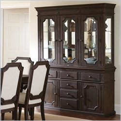 Steve Silver Company Cayden Buffet and Hutch in Black Walnut