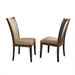 Steve Silver Gabrielle Dining Chair in Medium Walnut