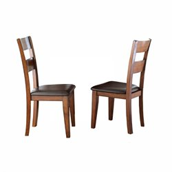 Steve Silver Zappa Dining Chair in Medium Cherry (Set of 2)