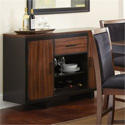 Steve Silver Julian Wine Rack Server in Black