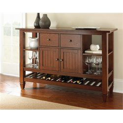 Steve Silver Bolton Wine Rack Server in Medium Oak