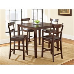 Steve Silver Howard 5 Piece Counter Height Dining Set in Merlot Cherry