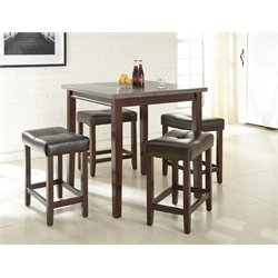 Steve Silver Aberdeen 5 Piece Counter Height Dining Set in Driftwood