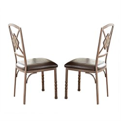 Steve Silver Annabella Dining Chair in Dark Brown