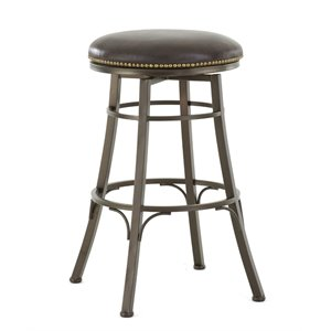 Steve Silver Bali Leather Swivel Stool 1
