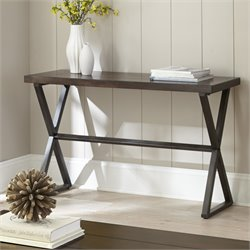 Steve Silver Omaha Console Table in Dark Cherry
