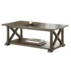 Steve Silver Southfield Coffee Table in Weathered Pine