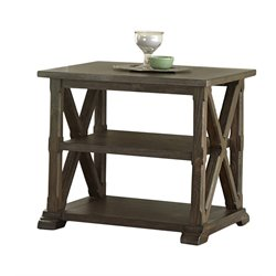 Steve Silver Southfield End Table in Weathered Pine