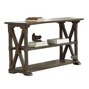 Steve Silver Southfield Console Table in Weathered Pine