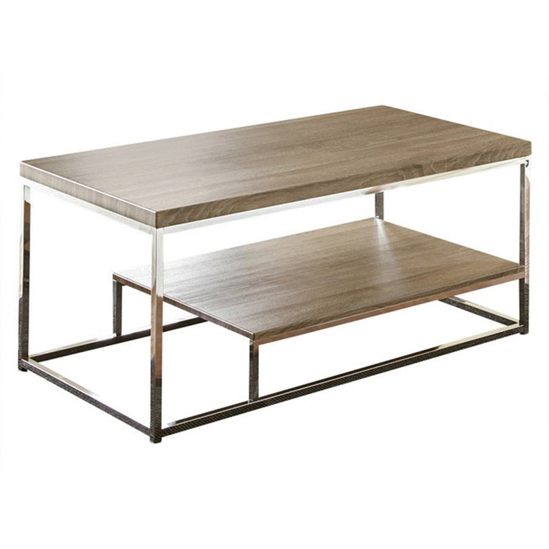 Steve Silver Lucia Coffee Table In Gray And Brown Lu350c